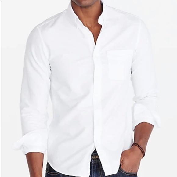 Men's size L White Oxford